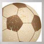 cru de ballon de football affiche