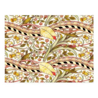 Cru de jonquille de Dearle floral Carte Postale
