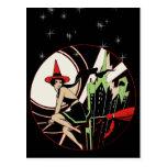 Cru de nouveau d'art de sorcière de vol de carte postale