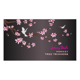 Cru de PixDezines/♥♥♥ rose de trimmers d'arbre de Carte De Visite Standard