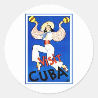 Cru du Cuba de visite Autocollants Ronds
