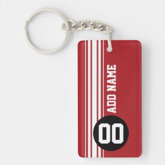 Cru emballant des rayures - rouge et noir porte-clef