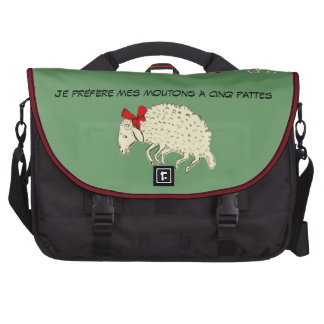 Cru français de mouton de moutons Cinq-À jambes ré Sacoches Pour Ordinateurs Portables