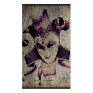 cru grunge gothique de joker de la Renaissance Modèle De Carte De Visite