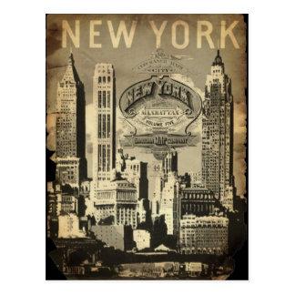 Cru New York de point de repère de voyage des Cartes Postales