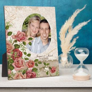 Cru rose personnalisé de treillis de photo de fian plaques d'affichage