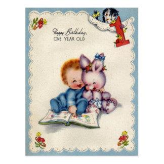 Cru une carte postale d anniversaire de garçons d