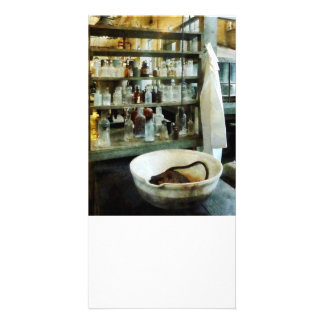Crucible and Lab Coat Photo Card Template