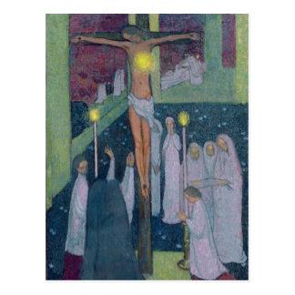 Crucified Sacred Heart, 1894 Postcard