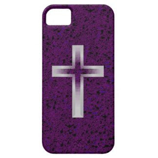 Crucifix cross purple iphone 5 barely case