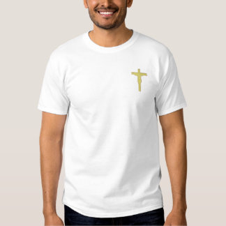 Crucifix Embroidered T-Shirt