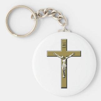 Crucifix in Bronze Keychain