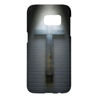Crucifix On A Wall Under Spotlight Samsung Galaxy S7 Case
