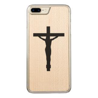 Crucifix Silhouette iPhone Carved iPhone 7 Plus Case