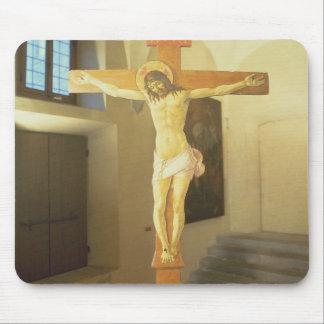 Crucifix (tempera on wood) mouse pad
