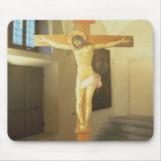 Crucifix (tempera on wood) mouse pad