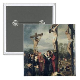Crucifixion, 1873 2 inch square button