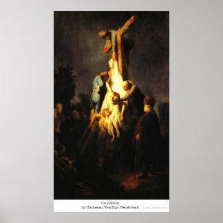 Crucifixion by Harmensz Van RijnRembrandt Poster