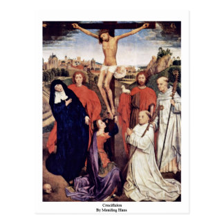 Crucifixion By Memling Hans Postcard