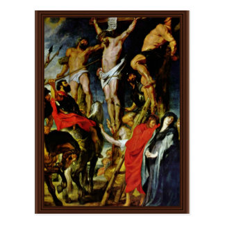 Crucifixion By Rubens Peter Paul (Best Quality) Postcard