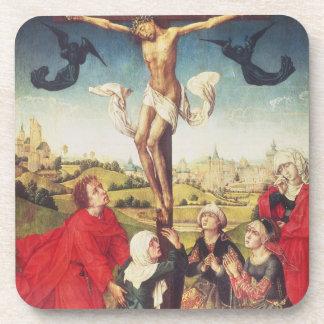 Crucifixion, c.1510 (oil on panel) beverage coasters