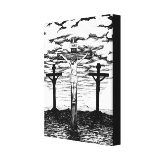 Crucifixion Illustration by Amanda Diehl Canvas Print