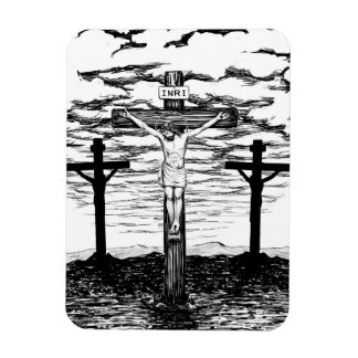 Crucifixion Illustration by Amanda Diehl Rectangular Photo Magnet