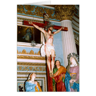 Crucifixion in Malta Greeting Cards