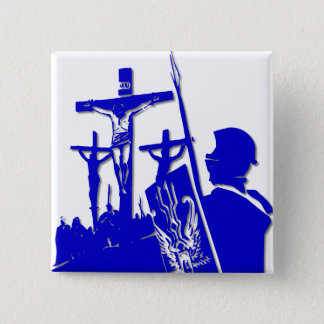 Crucifixion - Jesus on The Cross - Good Friday 2 Inch Square Button