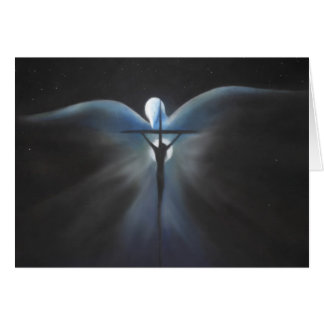 Crucifixion of Christ with the Holy Spirit, Poem Card