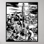 Crucifixion of Jesus Christ Vintage Art Print! Poster