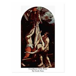 Crucifixion Of St. Peter By Guido Reni Postcard