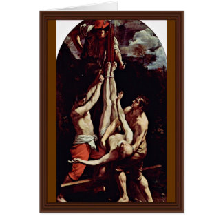 Crucifixion Of St. Peter By Reni Guido Card