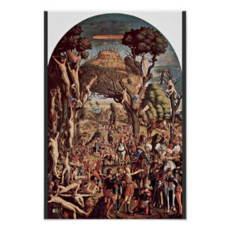 Crucifixion Of The Ten Thousand On Mount Ararat Poster