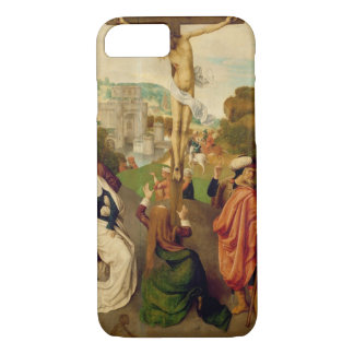 Crucifixion (oil on panel) iPhone 7 case