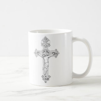 Crucifixion, pen and ink by Jenny McLaughlin Coffee Mug