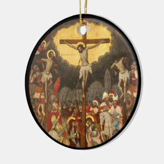Crucifixion  Scene 1711 Ceramic Ornament