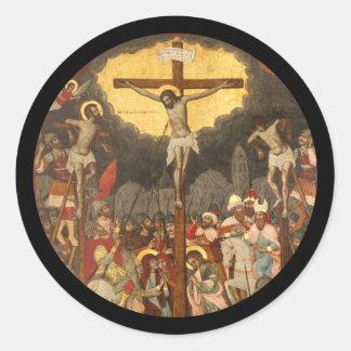 Crucifixion  Scene 1711 Classic Round Sticker