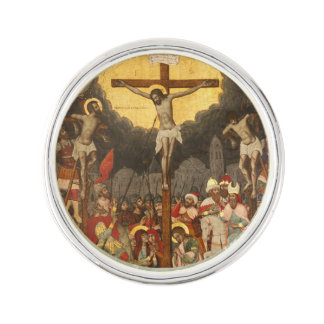 Crucifixion  Scene 1711 Lapel Pin