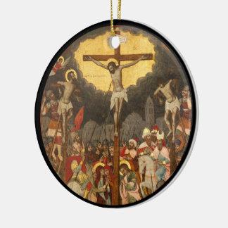 Crucifixion  Scene 1711 Round Ceramic Ornament