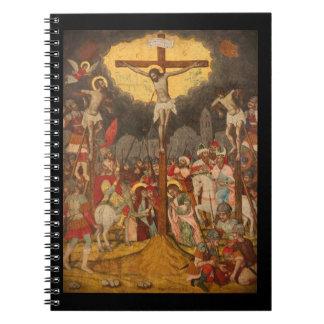 Crucifixion  Scene 1711 Spiral Notebook