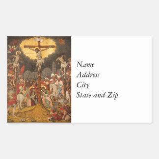 Crucifixion  Scene 1711 Sticker