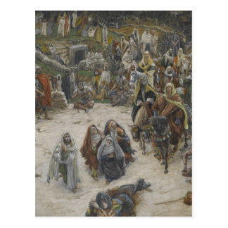 crucifixion seen from the cross James Tissot Postcard