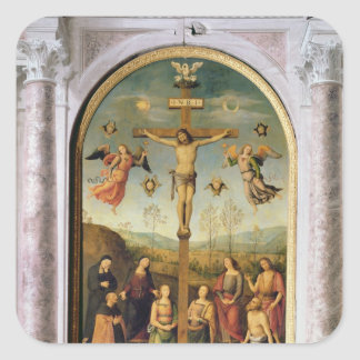 Crucifixion Square Sticker