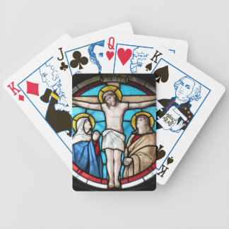Crucifixion Stained Glass Window Poker Deck