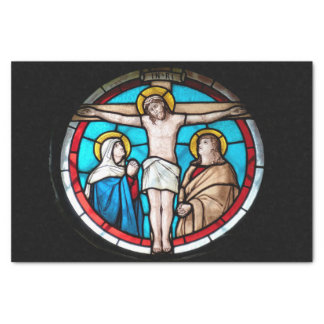 Crucifixion Stained Glass Window Tissue Paper