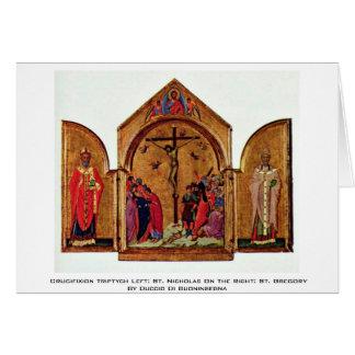 Crucifixion Triptych Left: St. Nicholas Card