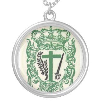 Crucis Supremae Sanctae Inquisitionis Encolpium Silver Plated Necklace