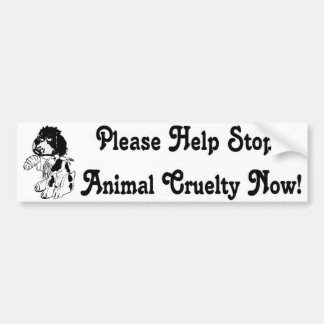 Cruelty Bumper Sticker