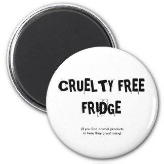 CRUELTY FREE FRIDGE 2 INCH ROUND MAGNET